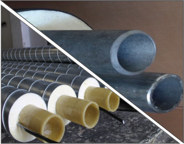 Comparison between GRP and steel conduit pipes